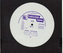 "Disque Souple 45 T .publicité  "" Vache Grosjean"" / Grosjeanrama N°7 "" Adieu Tristesse"" Du Film ORFEU NEGRO - Musique & Instruments"