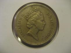 1 Pound 1987 ENGLAND Great Britain QE II Coin - 1971-… : Monnaies Décimales