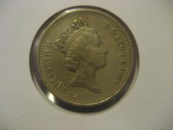 1 Pound 1989 ENGLAND Great Britain QE II Coin - 1971-… : Monnaies Décimales