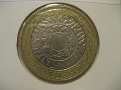 2 Pounds 1998 ENGLAND Great Britain QE II Bimetallic Coin - 1971-… : Monnaies Décimales