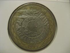2 Pounds 1999 ENGLAND Great Britain QE II Bimetallic Coin - 1971-… : Monnaies Décimales