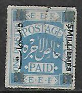 Palestine 1918, 5m / 1 Piastre Cobalt Blue, Used - Palestine