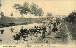 N°511 RRR LR 10 BLAIN  LE CANAL ET LE PONT DU CHEMIN DE FER - Blain