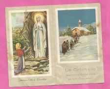 PICCOLO CALENDARIO 1954 LE ORFANELLE AUGURANO BUONE FESTE - Calendari