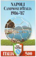 Postcard NAPOLI CAMPIONE D'ITALIA 1986 -1987 Fußball CALCIO - Neuve/Mint Soccer Football Fútbol Naples - 2 Scans - Football