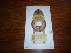 Souvenir  Communion  M Mersch Strée Beaumont 1958 - Communion