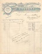 Facture Commerciale Ancienne/Manufacture De Confection Et Lingerie/J LAVIGNE/ Bordeaux/Place Du Palais /1907   FACT286 - Textile & Vestimentaire