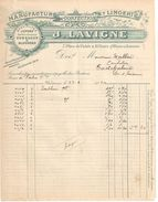 2 Facture Commerciales Anciennes/Manufacture De Confection Et Lingerie/J LAVIGNE/ Bordeaux/Place Du Palais/1910  FACT287 - Textile & Vestimentaire