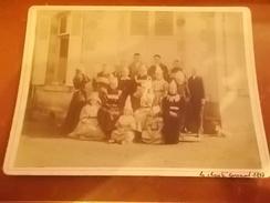 1898 LA CHARITE CARNAVAL GROUPE FEMMES HOMMES DEGUISES - La Charité Sur Loire