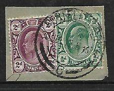 S.Africa, Inter-Provincial, 2d & 1/2d Of Transvaal Used, PORT ELIZABETH C 30 JY 12 C.d.s. - Zuid-Afrika (...-1961)