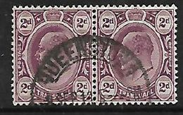 S.Africa, Inter-Provincial,  2d Pair Of Transvaal Used,QUEENSTOWN 9 SEP 13 (Cape)c.d.s. - Zuid-Afrika (...-1961)