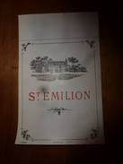 1920 ? Spécimen étiquette De St EMILION, N° 2549  Déposé,  Imp. G.Jouneau  3 Rue Papin à Paris - Castles