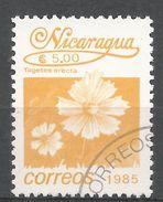 Nicaragua 1986. Scott #1528 (U) Tagetes Erecta, Fleurs, Flowers - Nicaragua