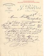 Lettre Commerciale Ancienne/J BORDES/ Quai De Bourgogne/ BORDEAUX/Malbec/Casteljaloux/1910            FACT292 - Bank & Insurance