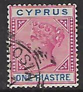 Cyprus, Queen Victoria, 1896, 1 Piastre Used - Cyprus (...-1960)
