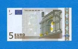 5  EURO  -  F R A N C I A -  Serie   U  427110044697 -  Codice Breve   L 027 B 5  - Firma  TRICHET - 5 Euro