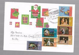L'Argentine Un Enveloppe Circulé Avec Timbres Un Noël - Weihnachten