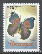 Nicaragua 1986. Scott #1569 (U) Salamis Cacta, Butterfly, Papillon - Nicaragua