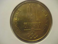 OLYMPHILEX Barcelona 1992 Olympic Games Olympics SPAIN Medal Token - Monnaies & Billets