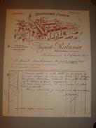 36 INDRE ISSOUDUN DISTILLERIE A VAPEUR AUGUSTE RABUSSIER RUE DE ROME 1947 LIQUEURS SIROPS VINS EAUX DE VIE - Alimentaire