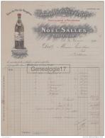 34 1777 BEDARIEUX HERAULT 1929 EAUX DE VIE DE FAUGERES Distillerie NOEL SALLES De FAUGERES A CROS - France