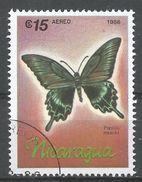 Nicaragua 1986. Scott #1570 (U) Papilio Maacki, Butterfly, Papillon - Nicaragua
