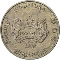 Singapour, 20 Cents, 1990, British Royal Mint, TTB, Copper-nickel, KM:52 - Singapore