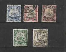 South West Africa 1900, 20pf, 40pf, 50pg; 1906 3pf, 5pf, Usedf - Colony: German East Africa