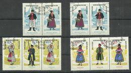 """DDR 1074-1079Zd """"2 2-er Und 2 3-er Zusammendrucke Sorbische Volkstrachten 1964, """" Gestempelt Mi.-Preis 33,00 - [6] République Démocratique"""