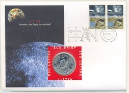 Nem01c RUIMTEVAART SPACE SHUTTLE HOUSTON THE EAGLE HAS LANDED NEDERLAND 1994 ECU BRIEF NO. 1 NUMISLETTER - Europe
