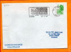 VOSGES, La Bresse, Flamme SCOTEM N° 8529a, Championnat Du Monde De Course D'orientation, 1-6 Sept. 87 - Marcophilie (Lettres)