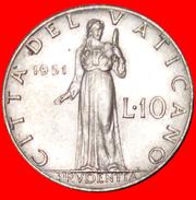√ PRUDENTIA (1951-1958): VATICAN ★ 10 LIRE 1951! LOW START ★ NO RESERVE! - Vaticano