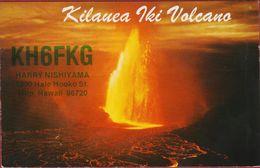 QSL Card Amateur Radio Station Kilauea Ki Volcano Hawai Volcan Vulkaan - Radio Amatoriale