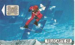 CARTE^-PUBLIC-F150A-50U-SC4 Ab-S/E-TROU 6-SKIEUR2-4/91-Pe 25007-UTILISE-TBE- - 1991