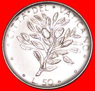 √ OLIVES: VATICAN ★ 50 LIRE 1974 MINT LUSTER! LOW START ★ NO RESERVE! Paul VI (1963-1978) - Vaticano