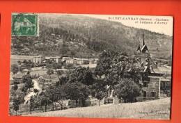 GAT-30  Saint-Just-d'Avray. Château Et Hameau. Cachet Frontal Circulé 1915 - Otros Municipios