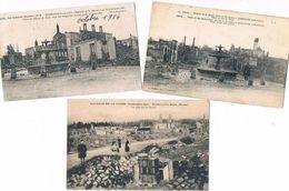 SERMAIZE .51.les Ruines . Lot De 3 Cartes.voir Photo. - Sermaize-les-Bains