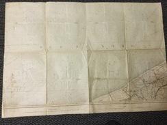 Topografische En Militaire Kaart 1860 - 1913.  Oost Dunkerke  / Mer Du Nord.  1 - 40000 - Topographical Maps
