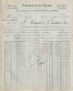 Facture & Lettre Commerciale Anciennes/RENARD & GARNIER/ Mérinos/Fabrique De REIMS/ Marne /1893      FACT294 - Textile & Vestimentaire