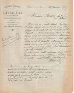 Lettre Commerciale Ancienne/Habillement Confectionné En Gros/Large Fils /CHÂLON Sur SAÔNE/(S & L)/ 1905      FACT296 - Textile & Vestimentaire