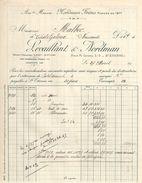 Facture Commerciale Ancienne/Levaillant & Nordman/SAINT ETIENNE/Loire// 1920      FACT297 - Textile & Vestimentaire