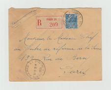 PNEUMATIQUE  ????  Recommandé 1931 - PARIS 21 RUE DE LA BASTILLE  Sur YT 273 Seul Sur Lettre - Postmark Collection (Covers)
