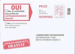 Laboratoire Naturavignon, Enveloppe Neuve, PostReponse 20g PRIO, Validité Permanente - Entiers Postaux