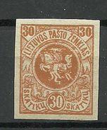 LITAUEN Lithuania 1919 Michel 53 U * - Lithuania