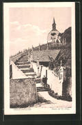 AK Grevenmacher, Mont De La Croix, Partie Mit Kirche - Cartes Postales