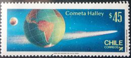 Chile, 1985, Sc. 702, Mi. 1108, Halley's Comet, Space, MNH - Space