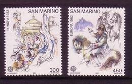 SAN MARINO MI-NR. 1249-1250 ** EUROPA 1982 - HISTORISCHE EREIGNISSE NAPOLEON AUF PFERD - Europa-CEPT