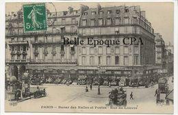 75 - PARIS 01 - Rue Du Louvre - Bazar Des Halles Et Postes +++++ ELD / E. Le Deley ++++ 1912 ++++ - Arrondissement: 01