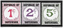 Botswana, Scott # J1-3 MNH Postage Due, 1967 - Botswana (1966-...)