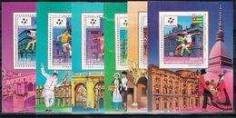 Togo.1990 World Cup.Soccer.Football.Fussball.6 S/S.MNH** - Coupe Du Monde